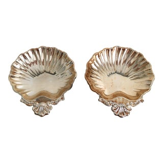 Silver Shell Jewelry Catchalls, Pair- Nautical Victorian
