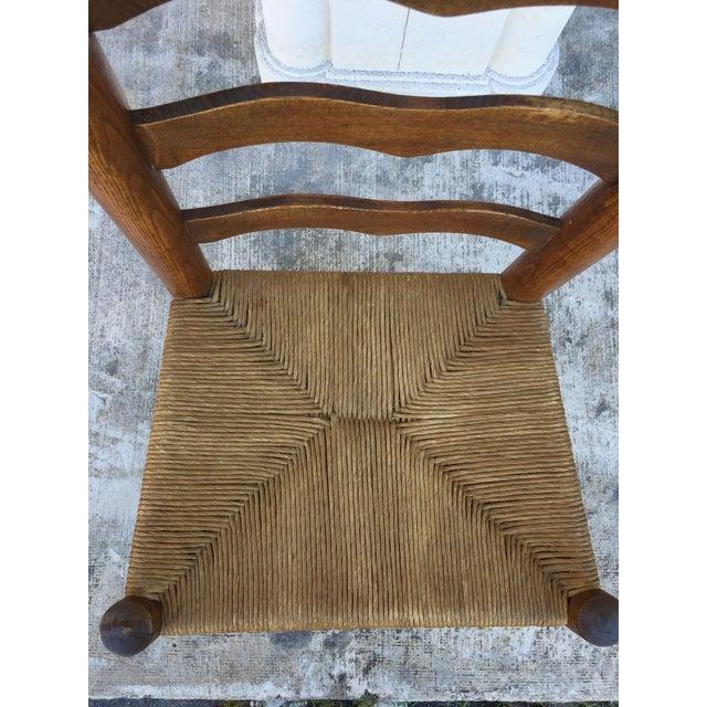 Primitive Lodge Ladder Back Chairs- Set of 4 - Image 3 of 5