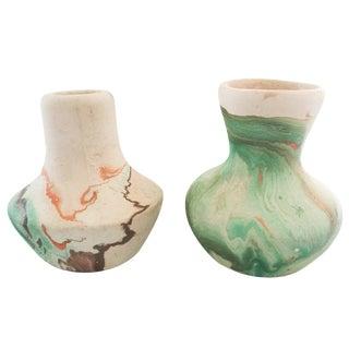 Vintage Nemadji Vases - a Pair