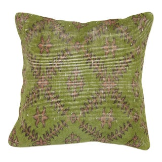 Turkish Green & Pink Rug Pillow