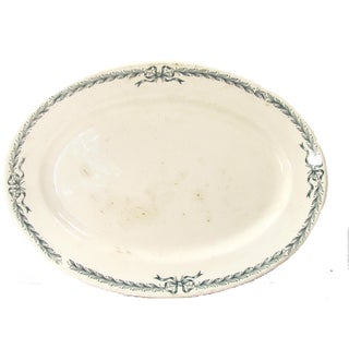 Antique French Transferware Faience Platter