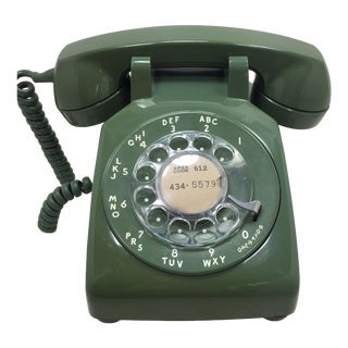 Moss Green 1966 WE Rotary Dial Phone Modular
