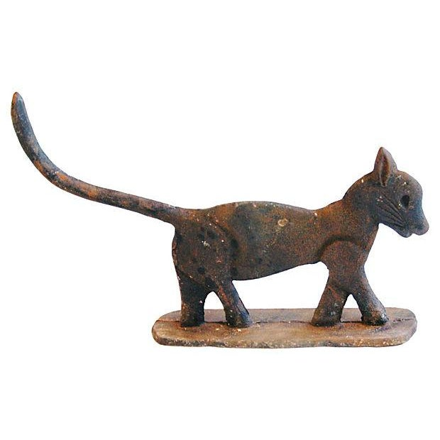 Vintage Cast Iron Cat Boot Scraper/Doorstop - Image 2 of 4