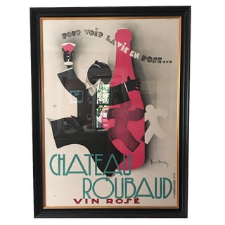 Vintage Oversize Chateau Roubaud Poster