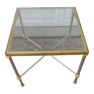 LaBarge Chrome & Brass Side Table