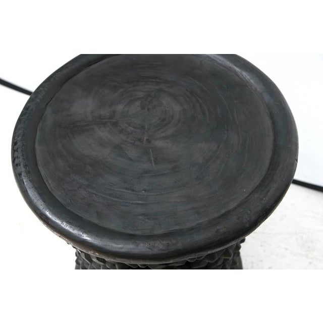 Tall Hand Carved African Cameroon Table - Image 5 of 8