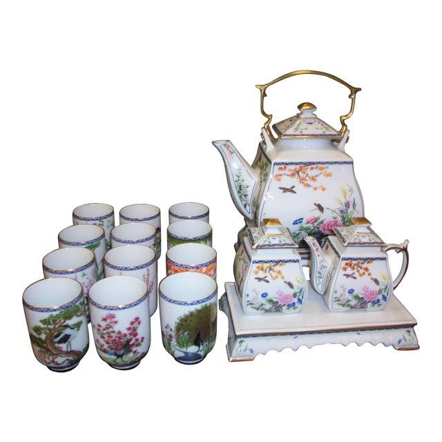 Franklin Mint Japanese Style Porcelain Tea Set - Image 1 of 11