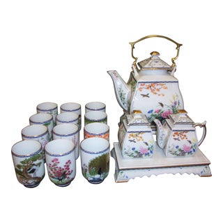 Franklin Mint Japanese Style Porcelain Tea Set