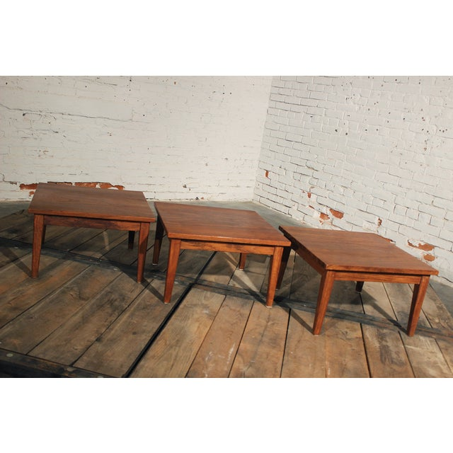 Mid-Century Stackable Rosewood Tables - Set of 3 - Image 4 of 9