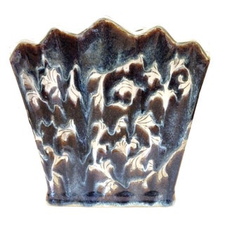 Vintage Art Deco Drip Glaze Planter