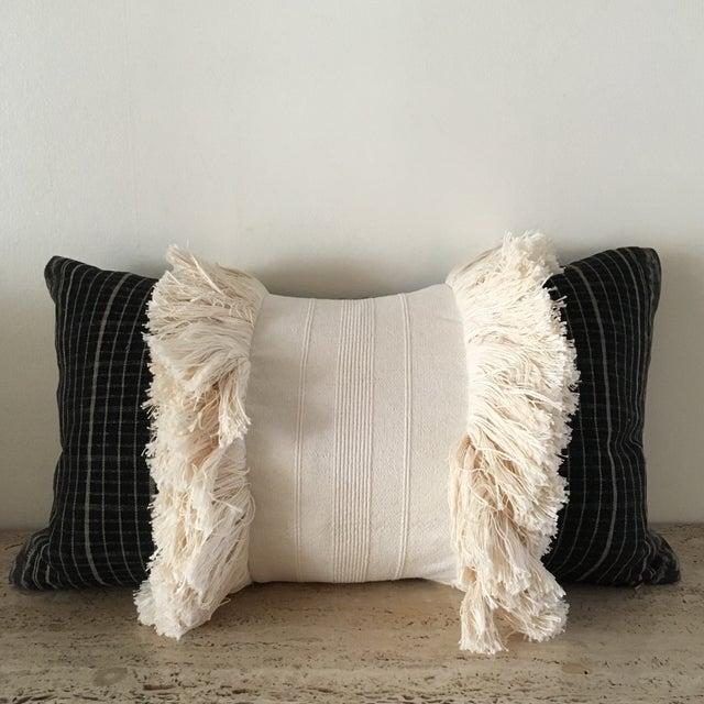 Vintage Sumba Ikat Fringe Pillow - Image 2 of 9