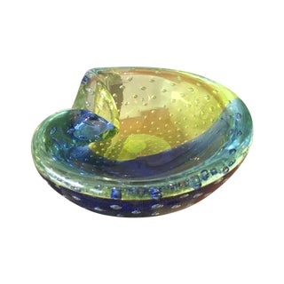 1960s Venini Murano Art Glass Ash Tray