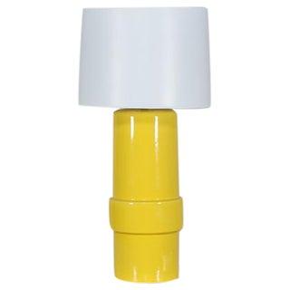 Vintage 1970′s Yellow Ceramic Italian Table Lamp