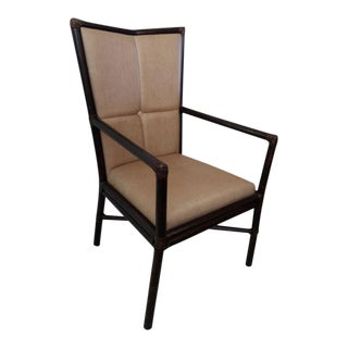 Vintage Barbara Barry for McGuire Rattan Armchair