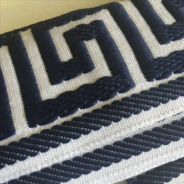 Blue & White Greek Key Trim Banding - Image 7 of 8