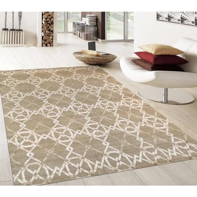 Pasargad Modern Silk & Wool Rug - 8′1″ × 10′1″ - Image 4 of 4