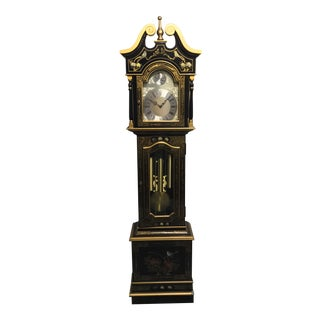 Chinoiserie Tempus Fugit Grandfather Clock