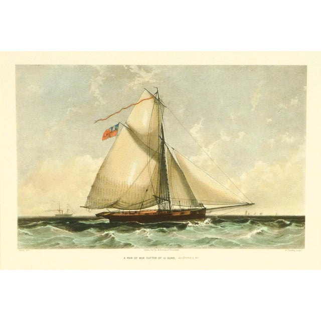 Image of Cutter Ship Sail Boat Print