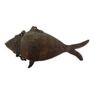 Cast Bronze Koi Fish Vessel