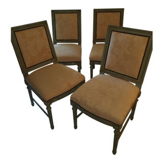 Louis XVI Inspired Dining Chairs - Set of 4