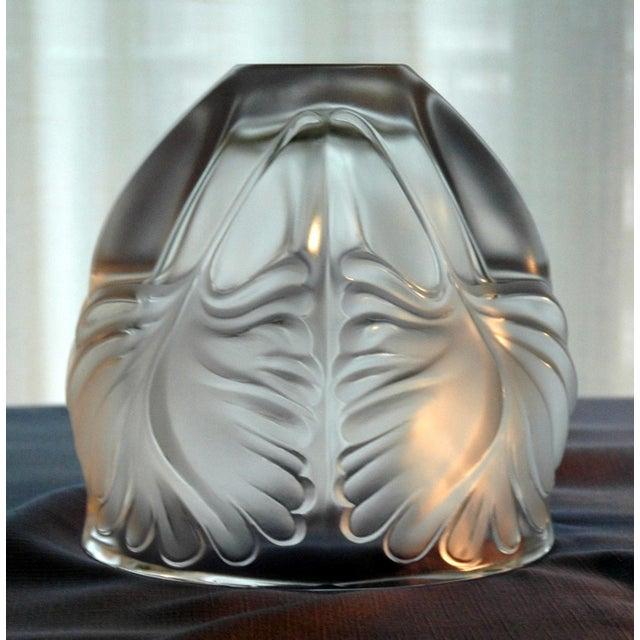 "Lalique ""Palm Fronds"" Crystal Vase - Image 3 of 5"