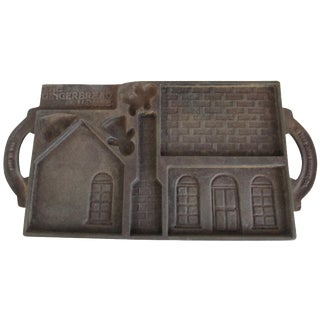 Vintage Double-Sided Cast Iron Gingerbread Mold