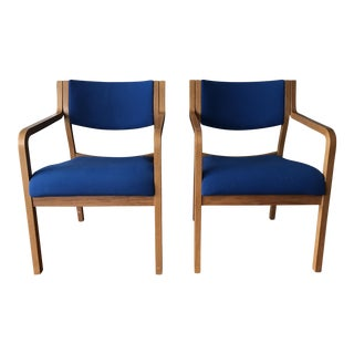 Vintage Thonet Bentwood Stackable Arm Chairs - A Pair