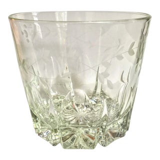 Vintage Etched Crystal Champagne Ice Bucket