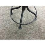 Image of Round Leather Stool