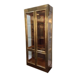 Mastercraft Brass and Glass Vitrine Display Cabinet