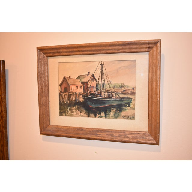 Lorena Lynch Mid-Century Sailboat Watercolor Painting - Image 4 of 6