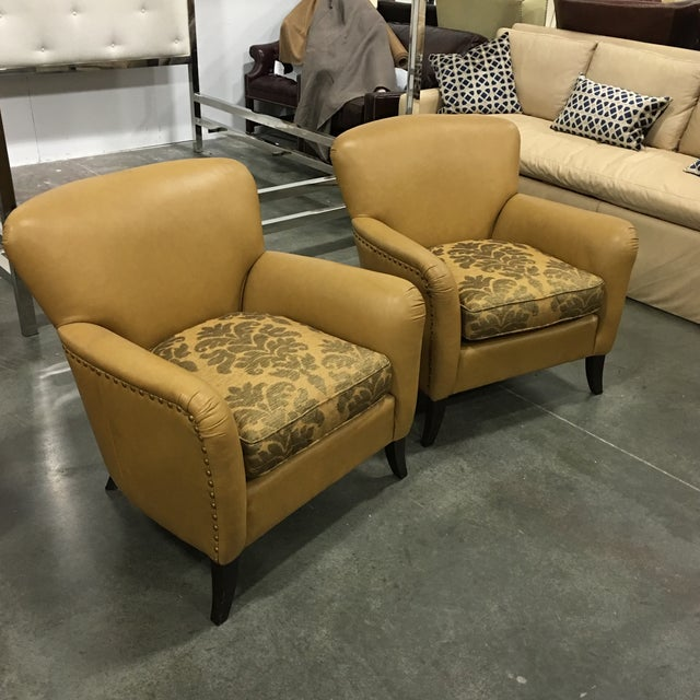 Leathercraft Tan Chairs - A Pair - Image 2 of 8