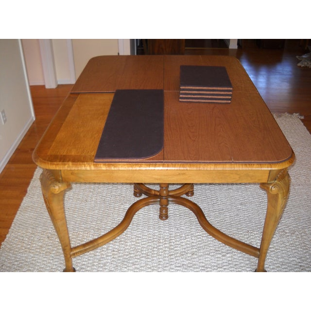French Provincial Solid Oregon Maple Dining Set - Image 7 of 11