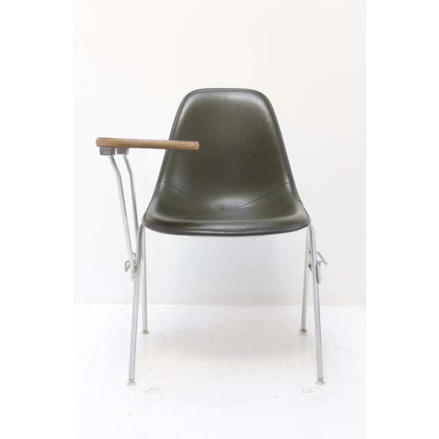 Herman Miller Fiberglass Side Chair With Desk Top Chairish