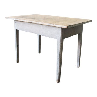 Gray Painted Pine Work Table