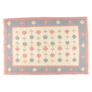 Leon Banilivi Dhurry Carpet - 6' X 9'