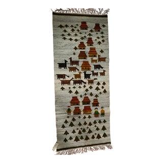 1960s A. Lewinska Polish Wool Kilim - 2′6″ × 5′1″