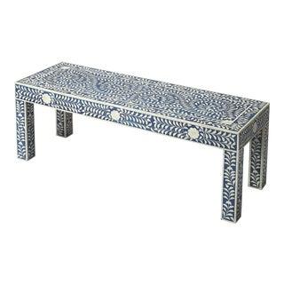 Butler Specialty Vivienne Blue Bone Inlay Bench