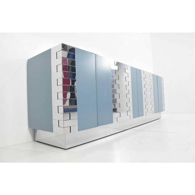 Paul Evans Custom Brick Hinge Console - Image 2 of 9