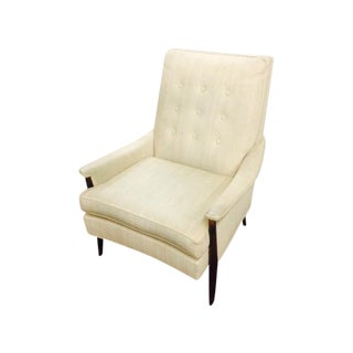 Mid Century Modern White Lounge Chair