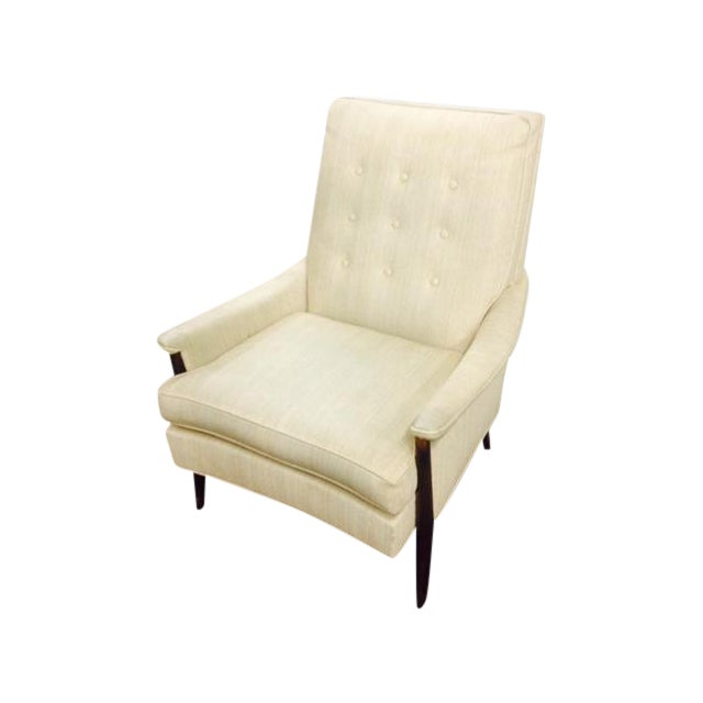 Mid Century Modern White Lounge Chair Chairish