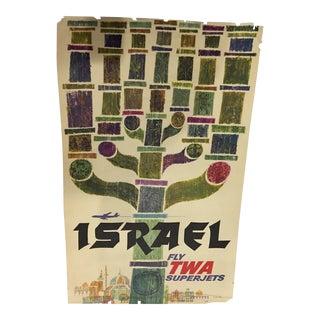 1960 David Klein 'TWA Israel' Poster