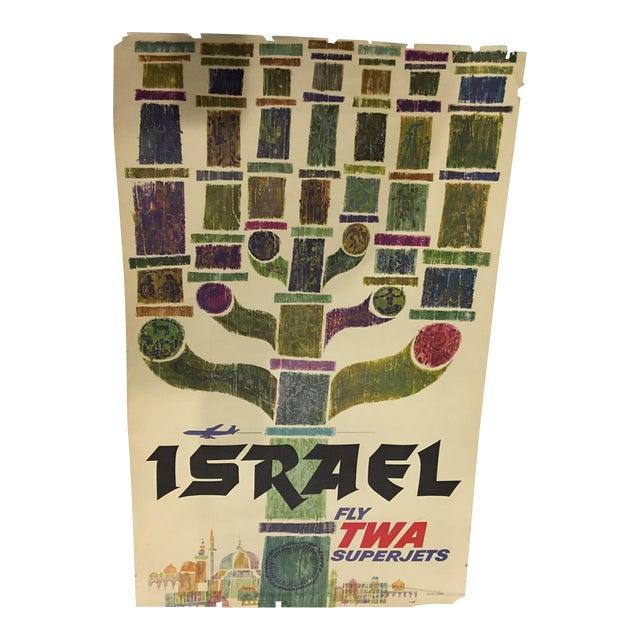 1960 David Klein 'TWA Israel' Poster - Image 1 of 9