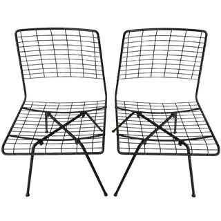 John Keal Iron Chairs - A Pair
