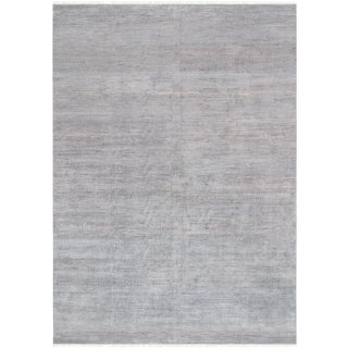 Pasargad Transitiona Silk & Wool Area Rug - 10′1″ × 14′2″