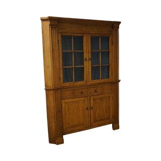Antique 19th Century Tiger Maple Corner Cabinet