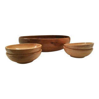 Vintage Wood Bowls - Set of 5