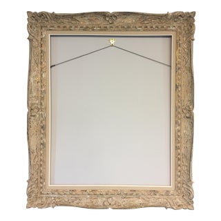 Mid-Century French Carved Wood Frame