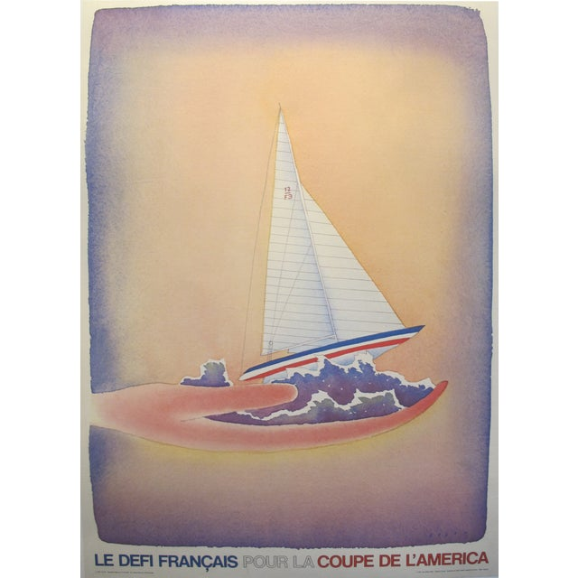 1981 French Defense America's Cup Poster - Image 1 of 2