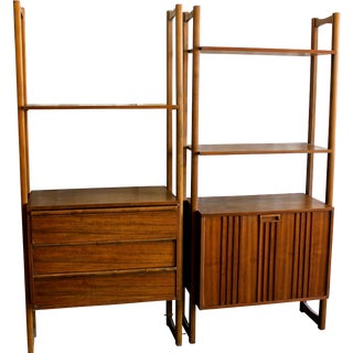 Mid-Century Danish Wall Units - A Pair